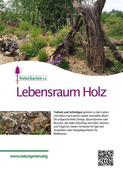 Lebensraum-Schild Totholz