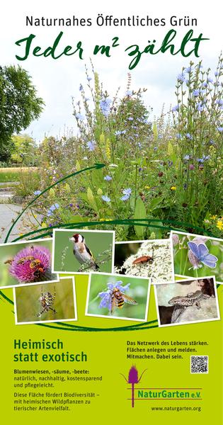 Naturgartenschild: Naturnahes Öffentliches Grün