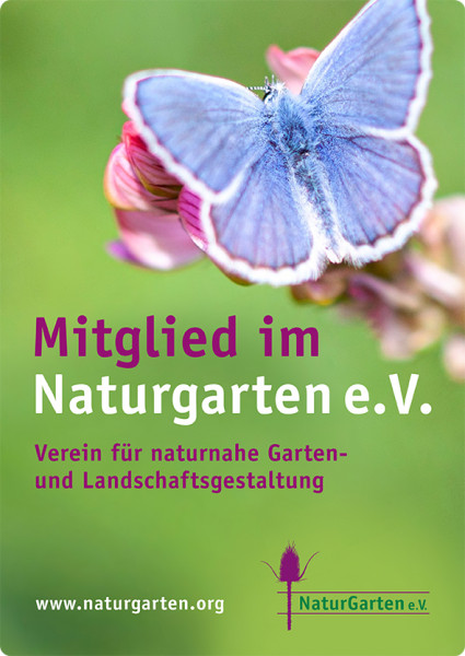 Naturgartenschild DIN A4 (nur für Mitglieder) - grün
