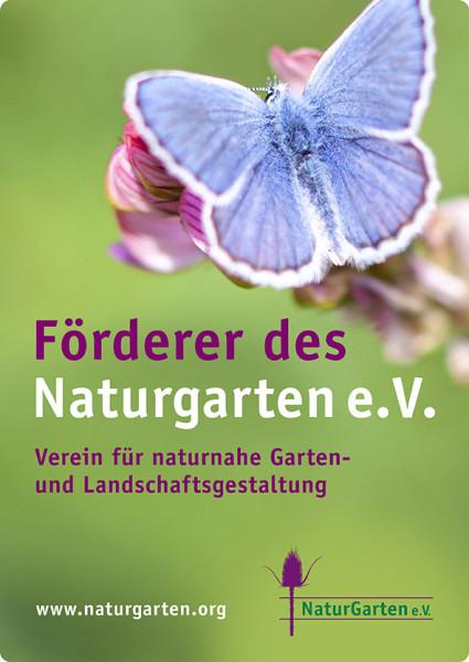Naturgartenschild DIN A4 (für Förderer) - grün
