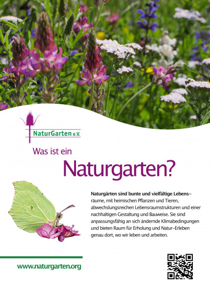 Lebensraum-Schild Naturgarten