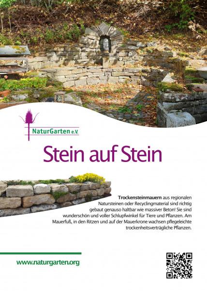 Lebensraum-Schild Trockensteinmauer