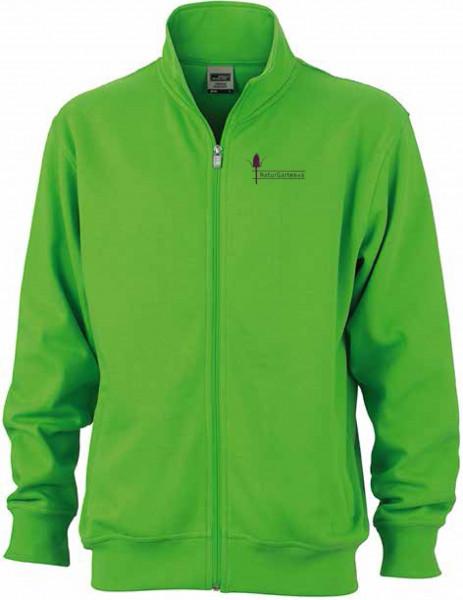 Sweatshirtjacke mit Naturgartenlogo - nur für Mitglieder