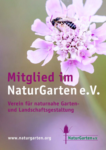 Naturgartenschild DIN A4 (nur für Mitglieder) - lila