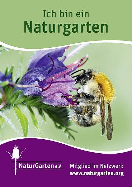 Naturgartenschild DIN A4 (nur für Mitglieder)